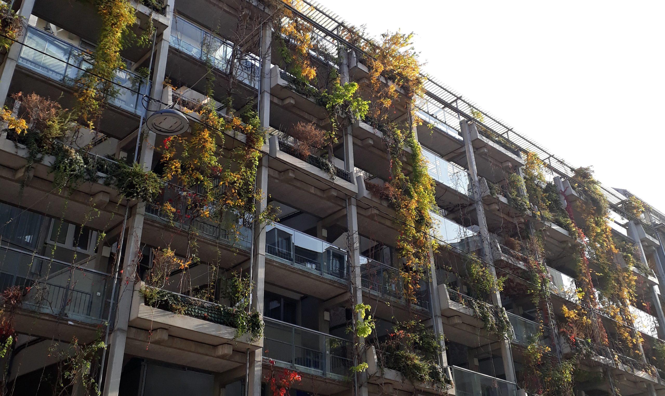 Außenfassade Hängende Gärten in Margareten, Wien